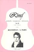 Livre : Beethovne à Paris, RIMF n°22...