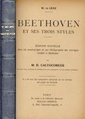Livre : Beethoven  et ses trois styles, par Wilhem de Lenz...