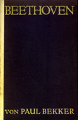 Livre : Beethoven, par Paul Bekker...