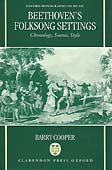 Livre: Beethoven's Folksongs settings, de Barry Cooper