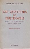 Livre : Les quatuors de Beethoven par Joseph de Marliave