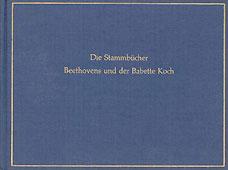 Livre : Die Stammbücher Beethovens...