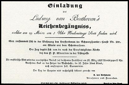 Tarjeta De Invitaci  N Al Funeral De Beethoven