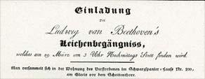 Invitación al Funeral de Beethoven