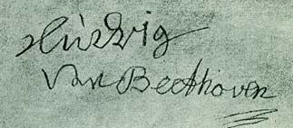 Ultima firma de Beethoven