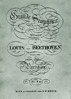 Portada de la partitura de la Primera Sinfonía de Ludwig van Beethoven