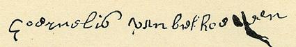 Foto la firma de Cornelius van Beethoven 1700