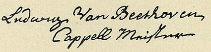 Signature of Ludwig van Beethoven - 1768...