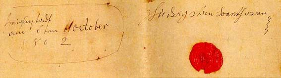 Heiligenstadt Testament: signature, date and place...
