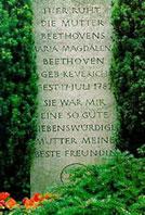 Tombe de la mère de Beethoven, à Bonn...
