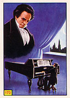Card with Beethoven