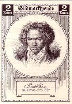 Carte avec Beethoven