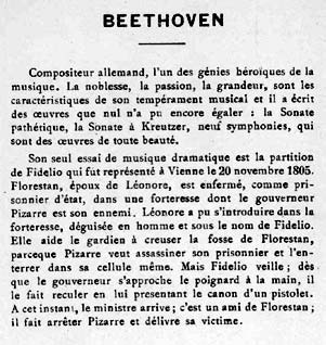 Beethoven - Carte à collectionner