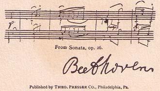 Verso de la carte Beethoven