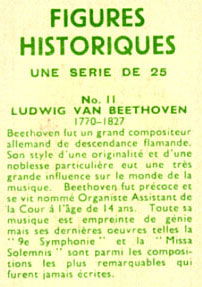 Beethoven - Carte à collectionner Domino n°11...