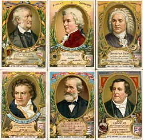 Cartes Liebig : série des Compositeurs Célèbres...