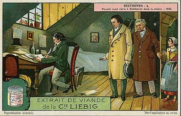 Liebig's card - Life of Beethoven in French...