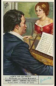 Beethoven - Carte Liebig en Italien - N°3