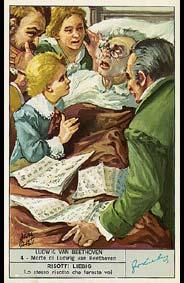 Beethoven - Carte Liebig en Italien - N°4