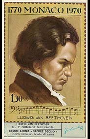 Beethoven - Carte Liebig en Italien - N°6