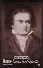 Beethoven - Carte à collectionner Ogden n°57...