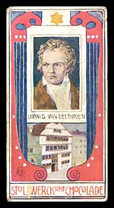Beethoven - Carte à collectionner...