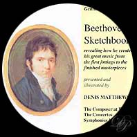 Beethoven on cd - Sketchbooks