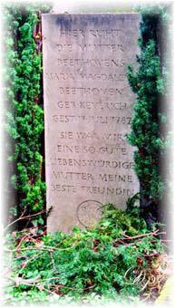 Bonn - Alter Friedhof, la tombe de la mère de Ludwig...