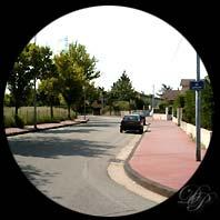 La rue Beethoven à Vénissieux