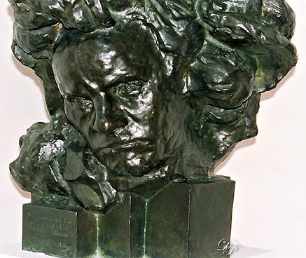 Beethoven aux longs cheveux, par Antoine Bourdelle, 1891...