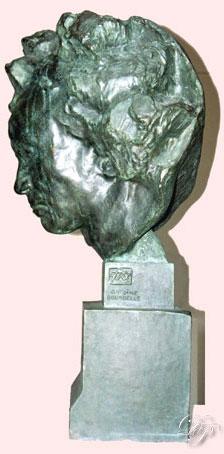 Beethoven dit Métropolitain, par Antoine Bourdelle, 1902, profil droit avec signature...