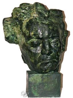 Beethoven pensif, par Antoine Bourdelle - Vers 1888