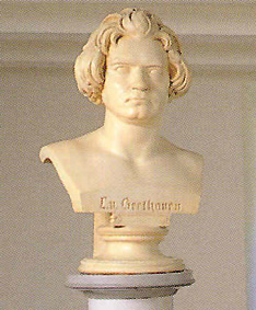 Beethoven's bust by Anton Dietrich...