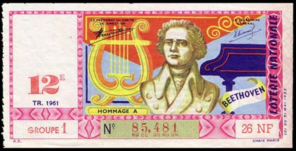 Le billet Beethoven de la Loterie Nationale