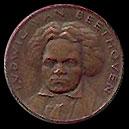 Médaille ou pièce de Ludwig van Beethoven...