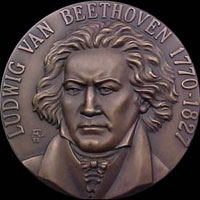 Coin with Ludwig van Beethoven...