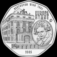 Medal with Ludwig van Beethoven