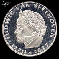 Coin of Ludwig van Beethoven...