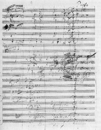 A page from the Original Score of Missa Solemnis