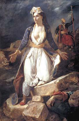 Eugène Delacroix: La Grèce expirant sur les ruines de Missolonghi
