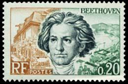 Beethoven : le timbre Français du 27 avril 1963...