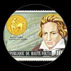 Beethoven - Timbre - Haute Volta - 1973