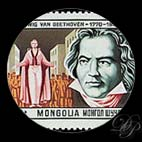 Beethoven - Timbres - Mongolie 1981