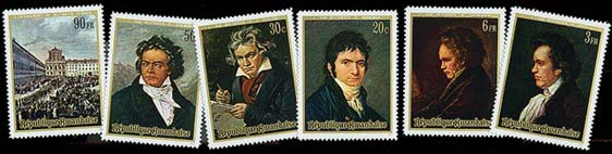 Beethoven - Timbre - Rwanda - 1971