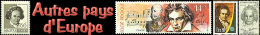 Ludwig van Beethoven :  timbres des autres pays d'Europe...