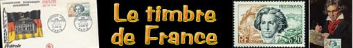 Ludwig van Beethoven :  timbres de France...