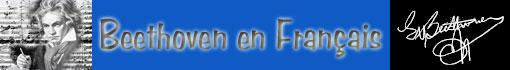Ludwig van Beethoven en Français : retour au menu principal...